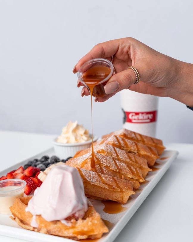 Gelare Waffle and Ice Cream